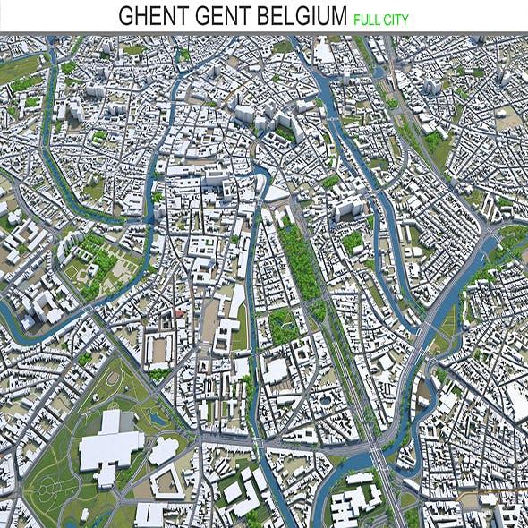Ghent Gent city Belgium 3d model 40 km - 3DOcean Item for Sale