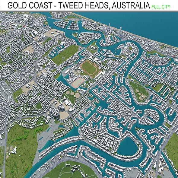 Gold Coast Tweed Heads Australia 80Km - 3DOcean Item for Sale
