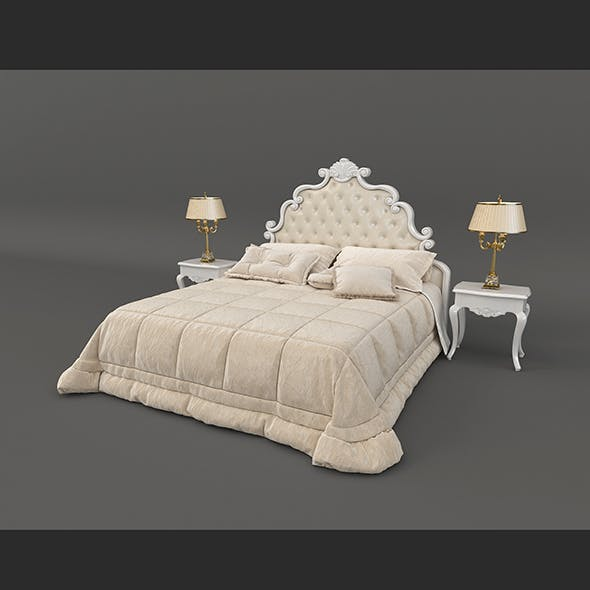European Style Bed 9 - 3DOcean Item for Sale