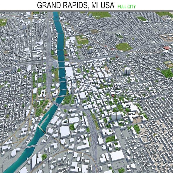 Grand Rapids MI city USA 3d model 40KM