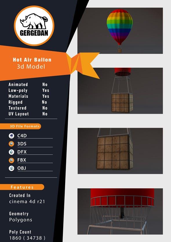 Hot Air Balloon - 3DOcean Item for Sale