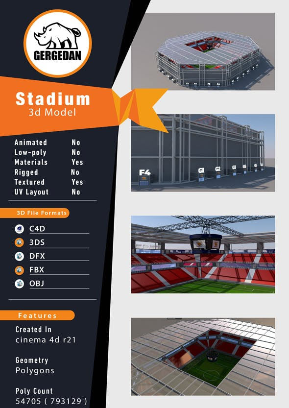 Stadium - 3DOcean Item for Sale