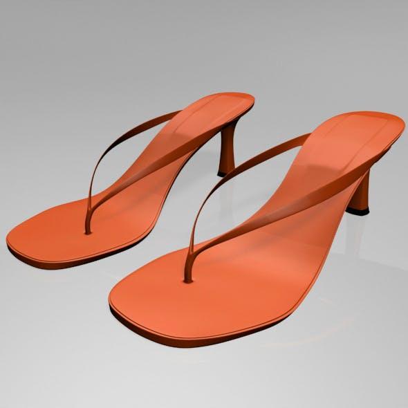 Thong Spool-Heel Sandals 01 - 3DOcean Item for Sale