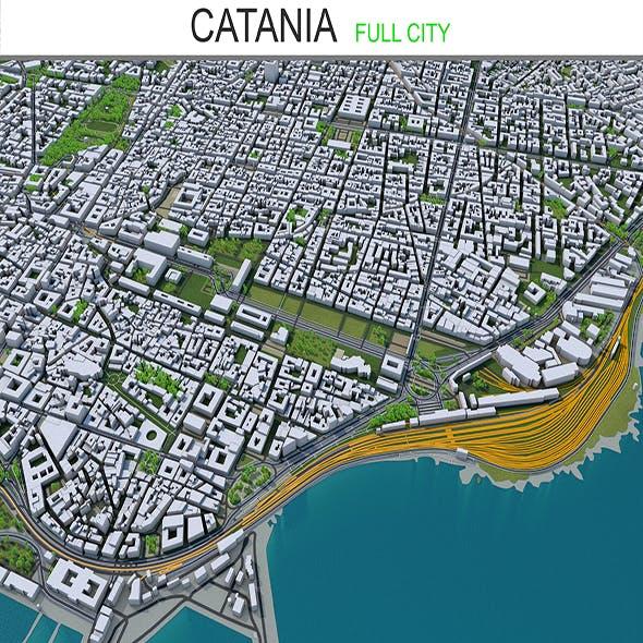 Catania city Italy 3d model 30 km
