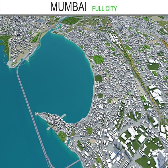 Mumbai city 3d model 50km