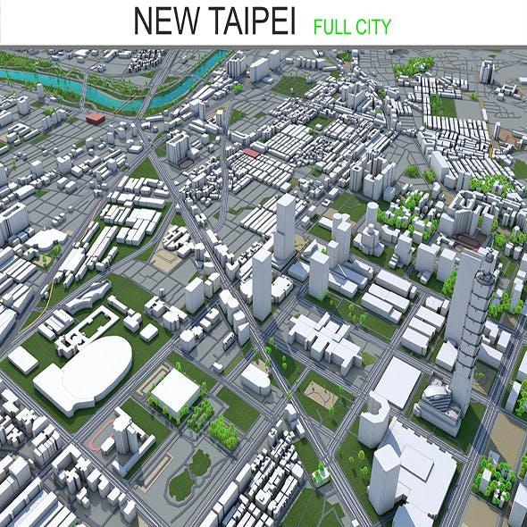 New Taipei city Taiwan 3d model 80 km