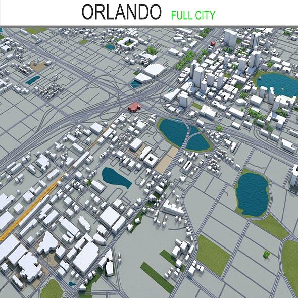 Orlando city florida 3d model 80Km
