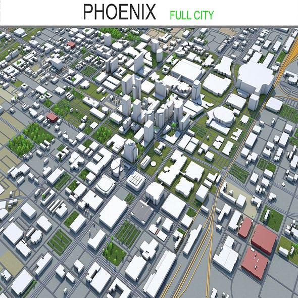 Phoenix city Arizona 3d model 95km