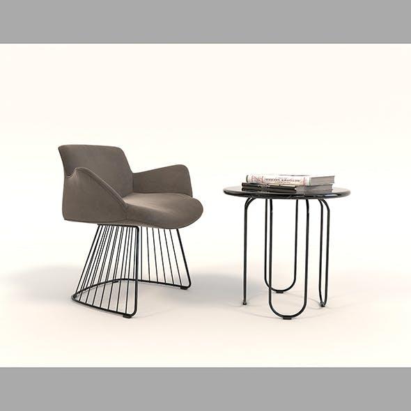 Contemporary Design Armchair Set 9