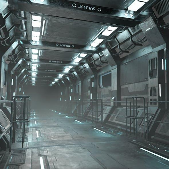 Sci-Fi Modular Corridor - Low Poly