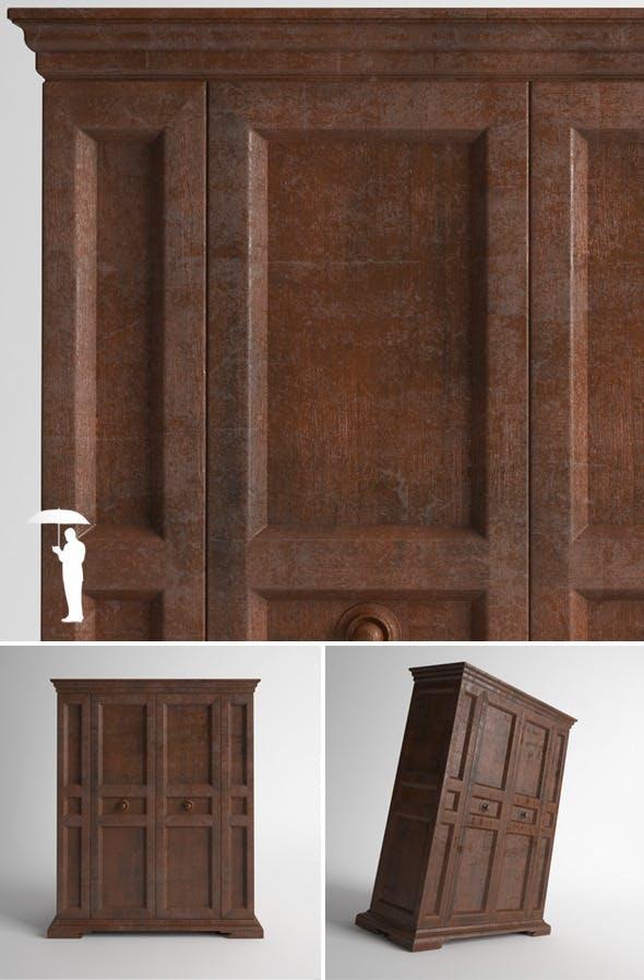 Old wooden wardrobe  - 3DOcean Item for Sale