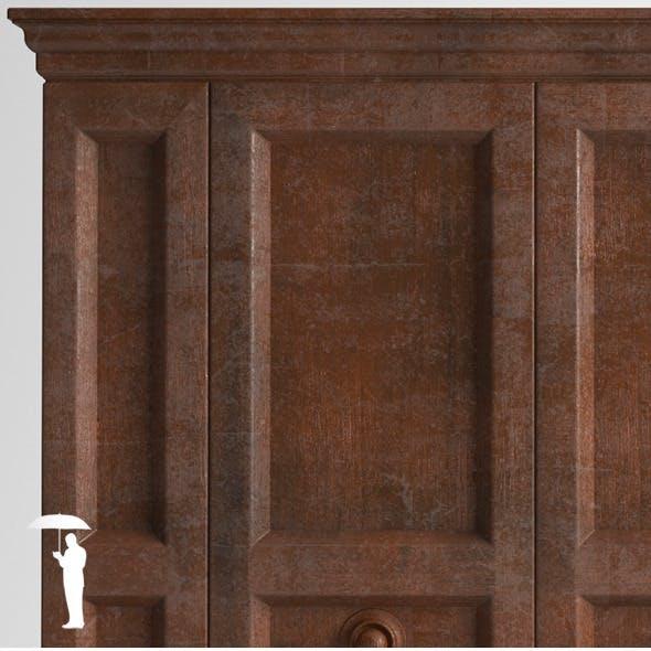 Old wooden wardrobe