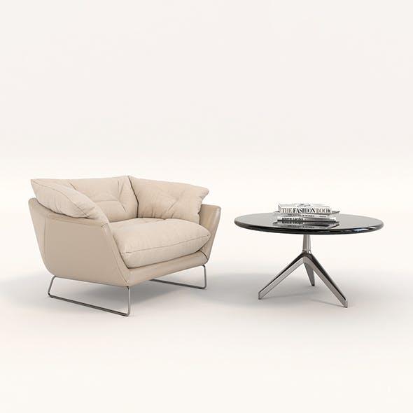 Contemporary Design Armchair Set 10