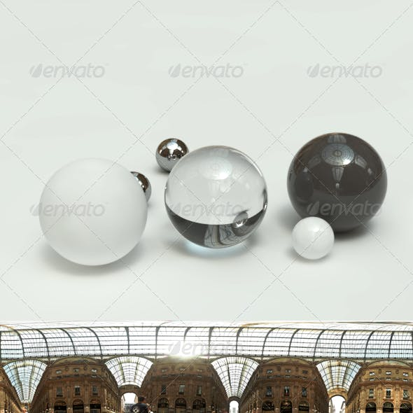 360 HDRI spherical panorama - Milan - Galleria