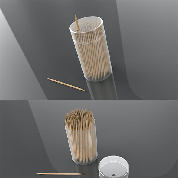 3D Double Pointed Toothpicks
