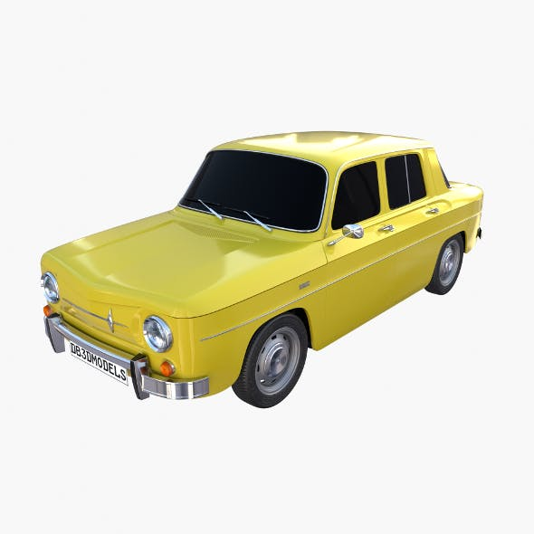 Renault 8 Yellow - 3DOcean Item for Sale