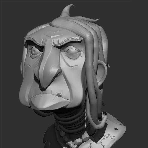 Old Witch Bust