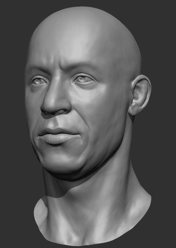 Vin Diesel Head Sculpt - 3DOcean Item for Sale