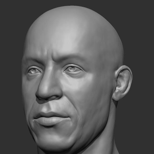 Vin Diesel Head Sculpt