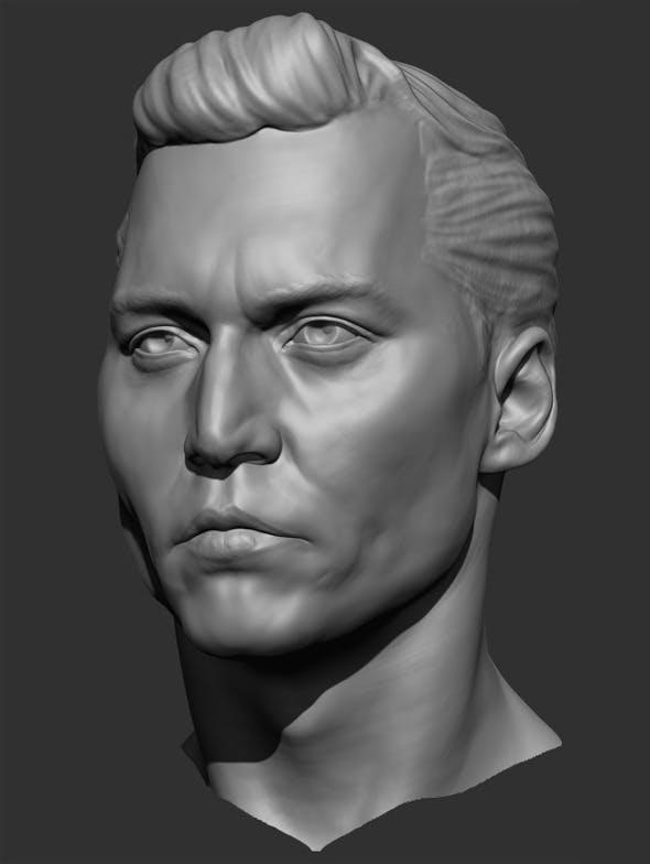 Johnny Depp Head Sculpt - 3DOcean Item for Sale
