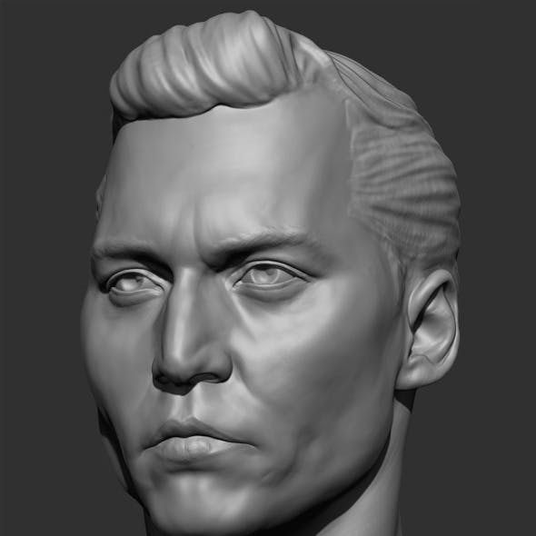 Johnny Depp Head Sculpt