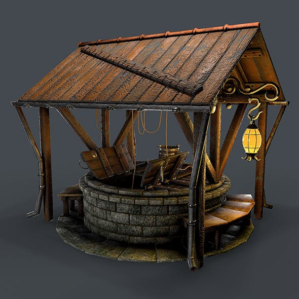 Stone well 3d model - 3DOcean Item for Sale