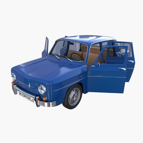 Renault 8 with interior Blue