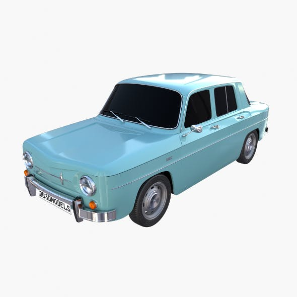 Renault 8 Light Blue