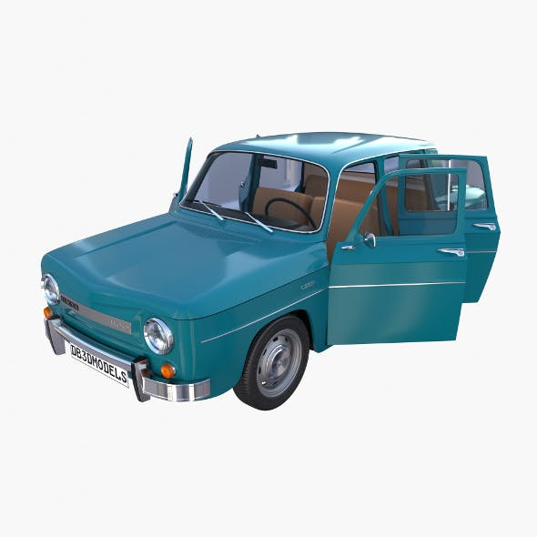 Dacia 1100 with interior Blue - 3DOcean Item for Sale