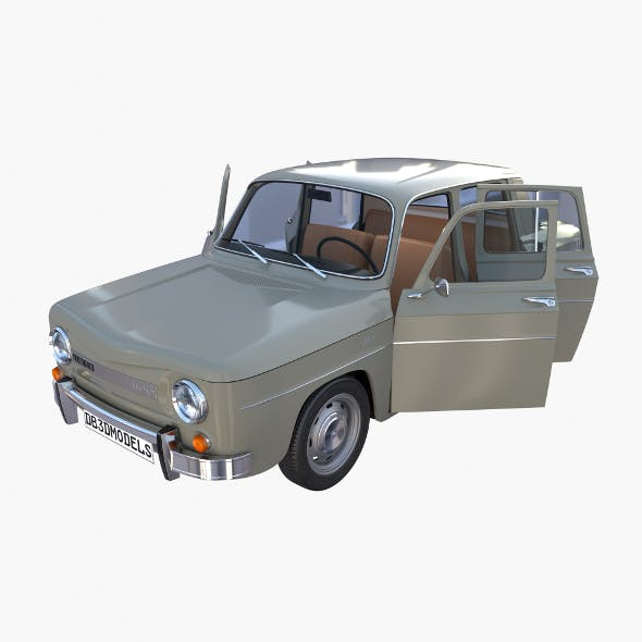 Dacia 1100 with interior Gray - 3DOcean Item for Sale