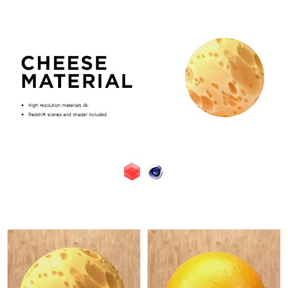 Cheese material .Redshift scenes included