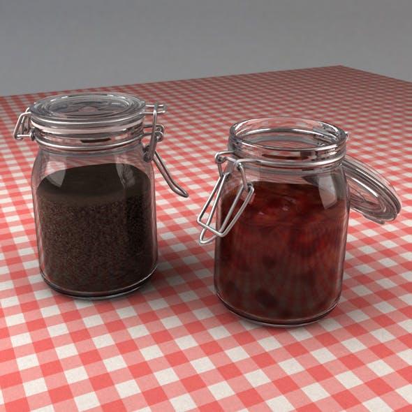 Hermetic Glass Jar
