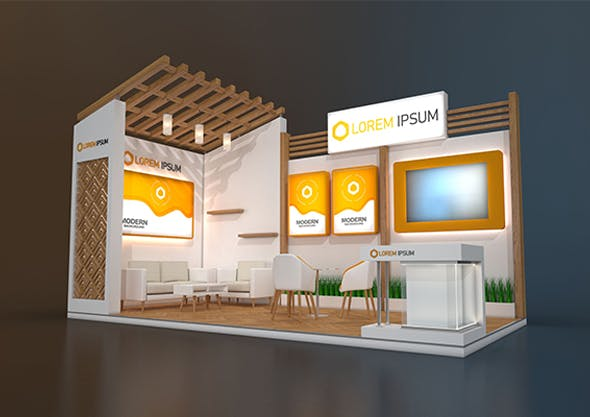 EXHIBITION STAND MPM 18 sqm - 3DOcean Item for Sale