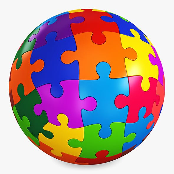 Colored Sphere Puzzle v 3 - 3DOcean Item for Sale