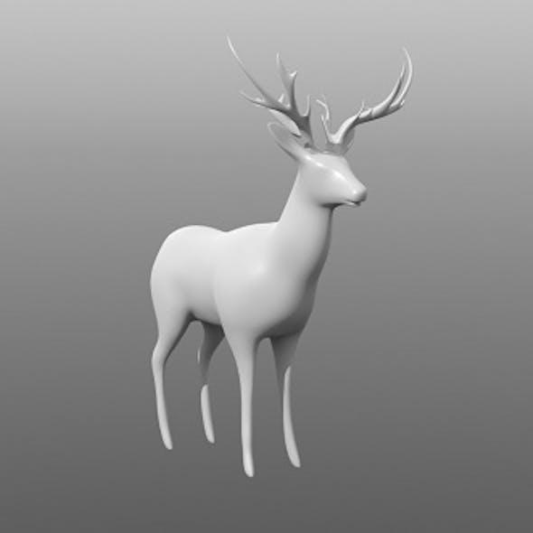 Deer low poly base mesh