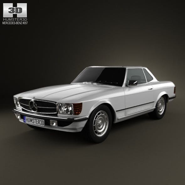 Mercedes-Benz SL-Class R107 coupe 1972 - 3DOcean Item for Sale