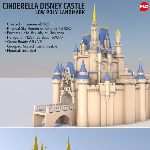 Low Poly Cinderella Disney Castle Landmark