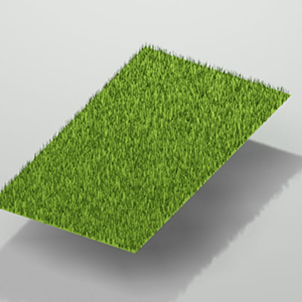 Low Poly Grass w/Camera & Lighting Scene