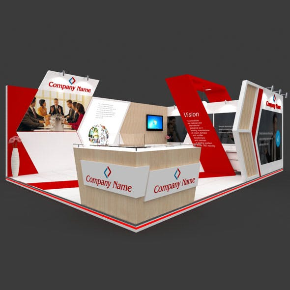Exhibition Booth 3D Model - 7x5 mtr