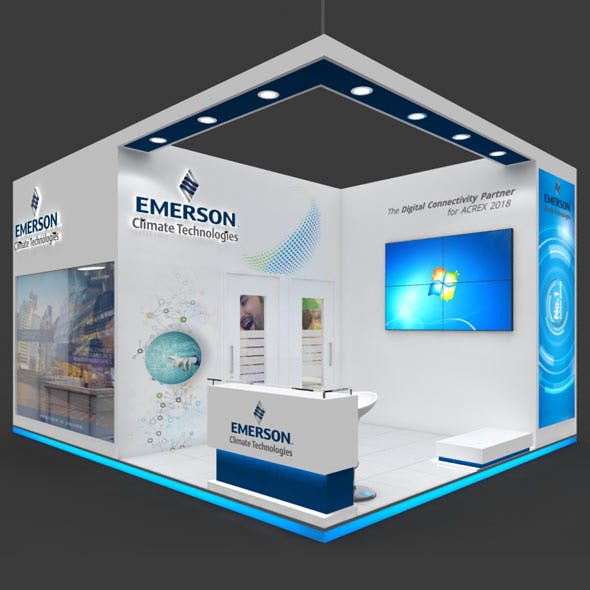Exhibition Booth 3D Model - 6x5 mtr