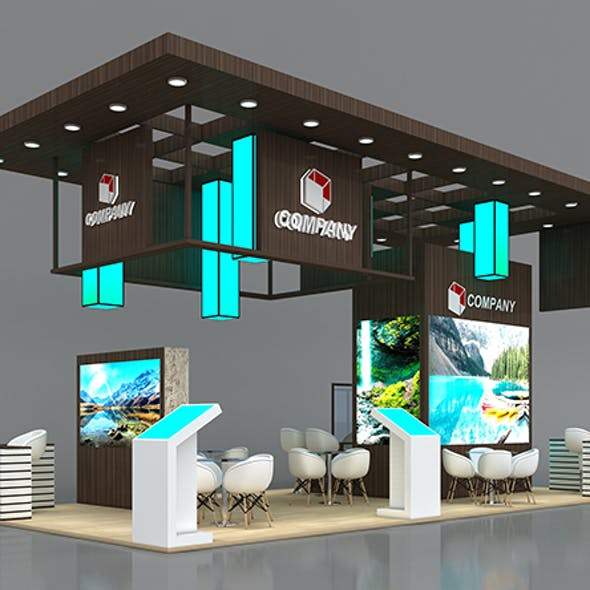Booth Exhibition Stand Stall 10x5m Height 500 cm 4 Side Open
