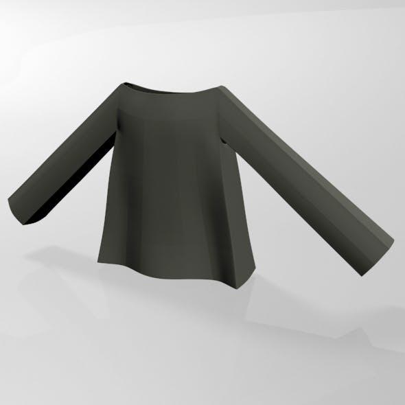 Boat-Neck Top 01 - 3DOcean Item for Sale