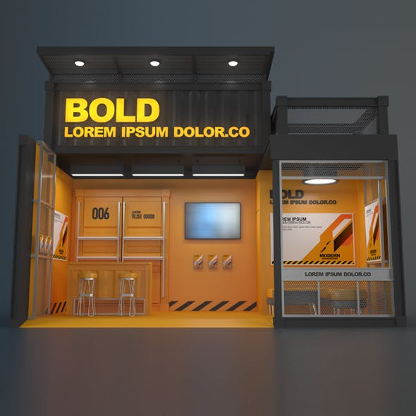 EXHIBITION STAND 006 18 sqm - 3DOcean Item for Sale