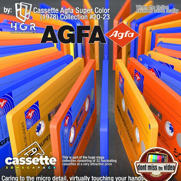 (3units) Cassette´s Agfa Super Color (1978) collection #21-23