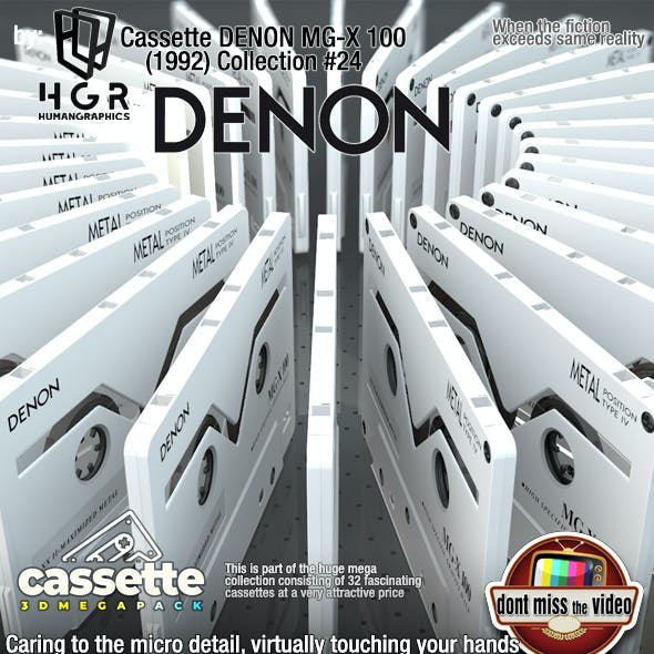 Cassette DENON MGX-100 Metal (1992) collection #24