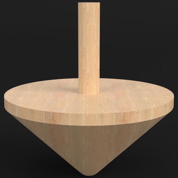 Wooden spinning top - 3DOcean Item for Sale