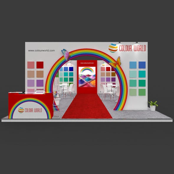 Exhibition Booth 3D Model - 9x6 mtr
