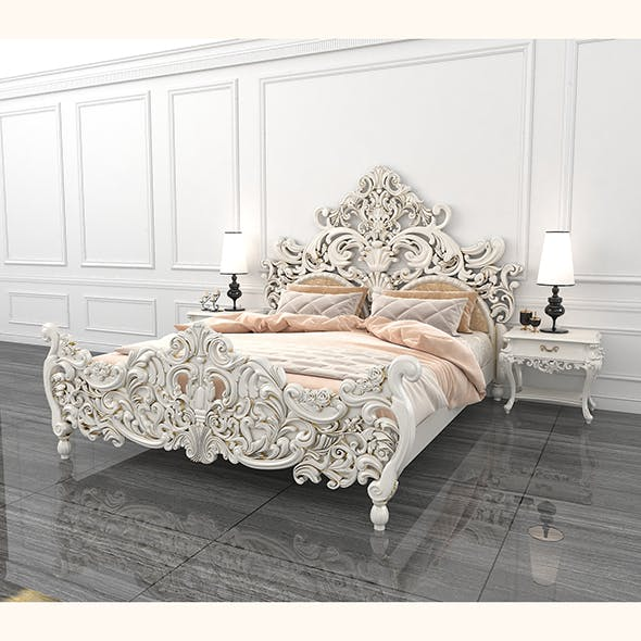 Classic Carved Bed 2