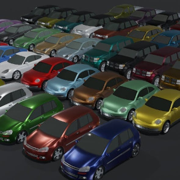 Generic Passenger Car 3D Models Pack