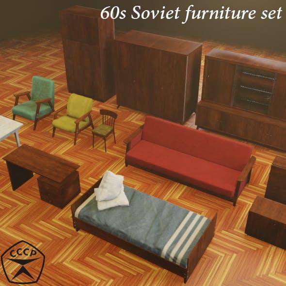 60s Soviet furniture set - 3DOcean Item for Sale
